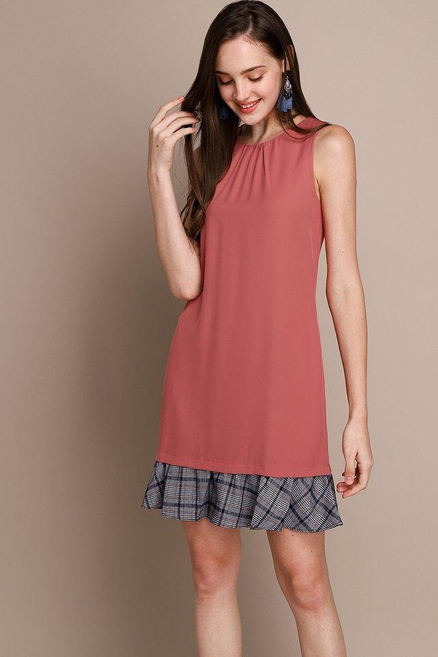Social Order Dress In Tea Rose