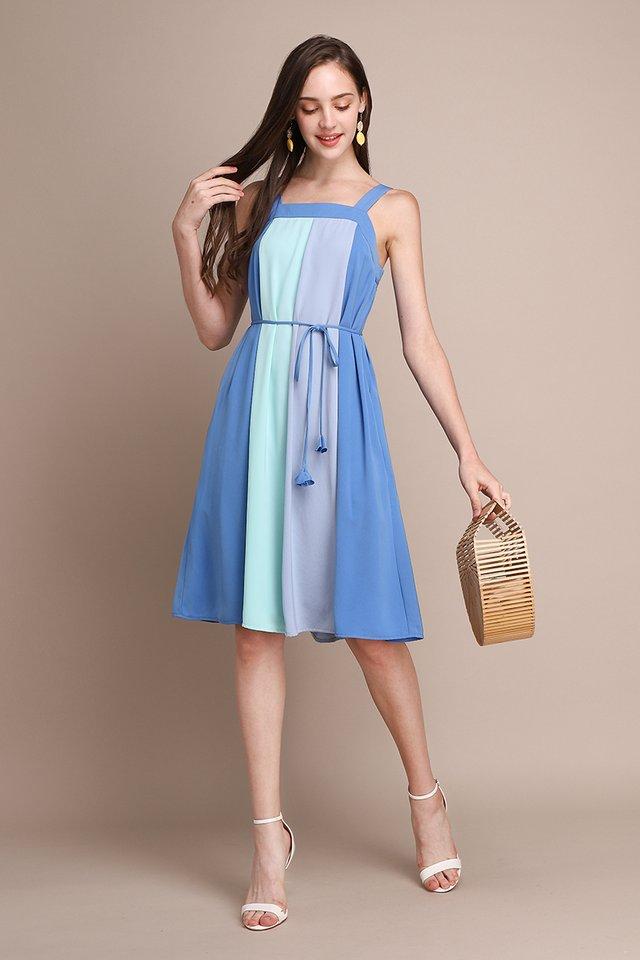 French Palette Dress In Ocean