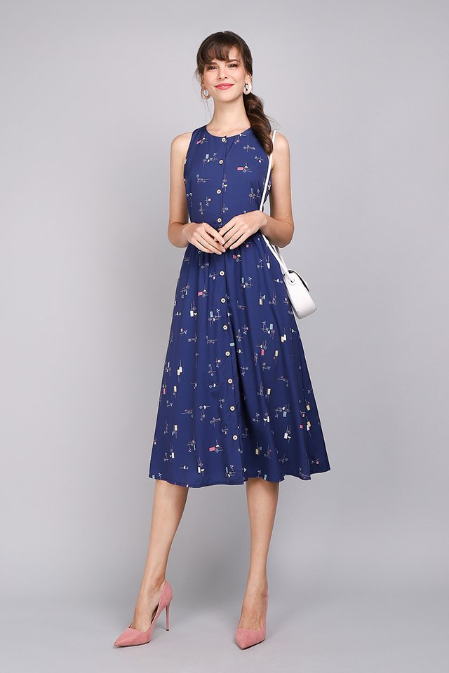 Fun As Can Be Dress In Blue Prints