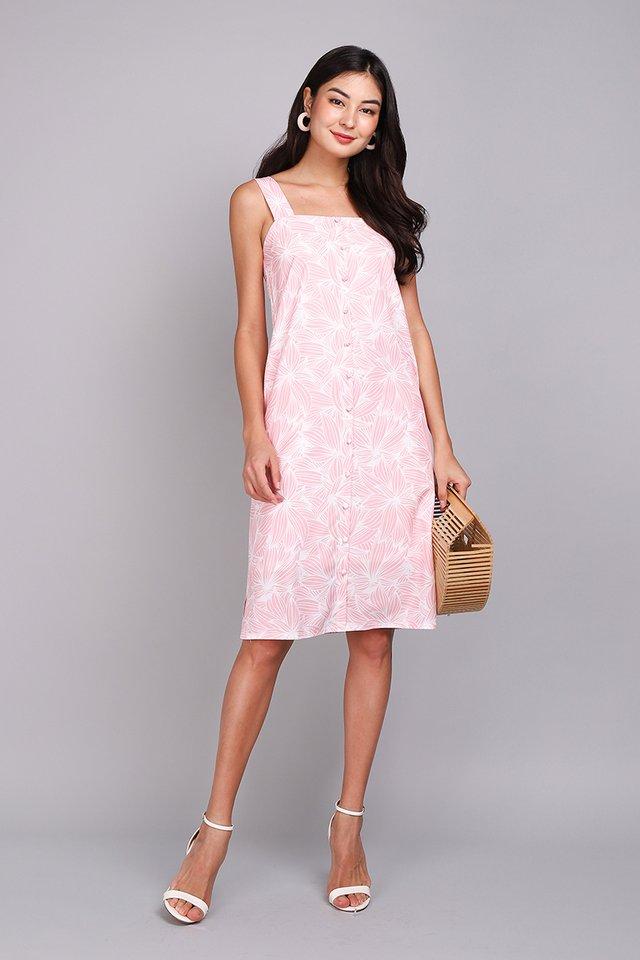 Illustrator Handbook Dress In Pink Prints