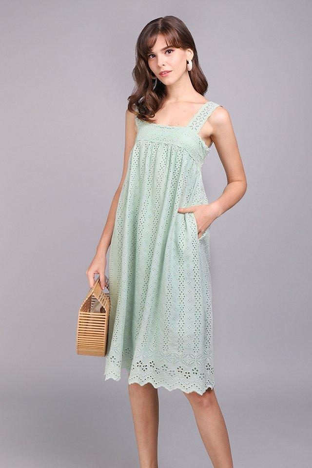 A True Romantic Dress In Sage Green