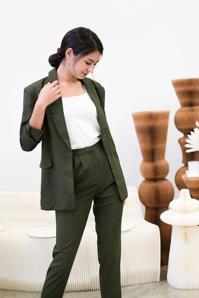 Freya Jacket In Olive Green