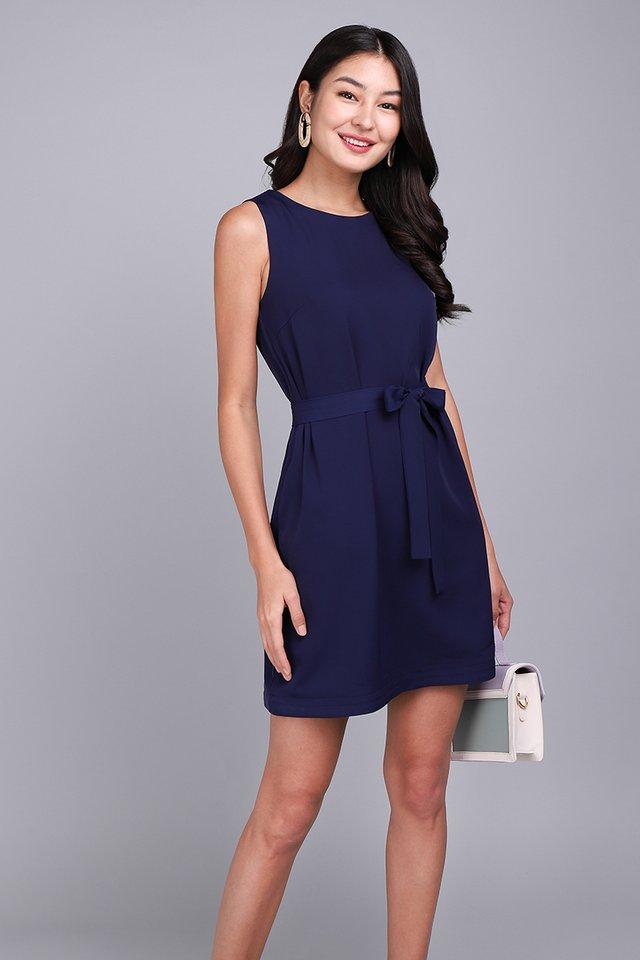 Weekday Merriment Dress In Navy Blue