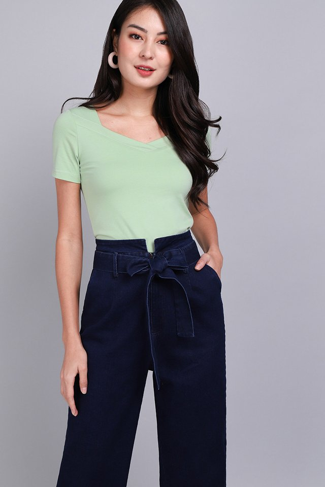 Melody Top In Pistachio