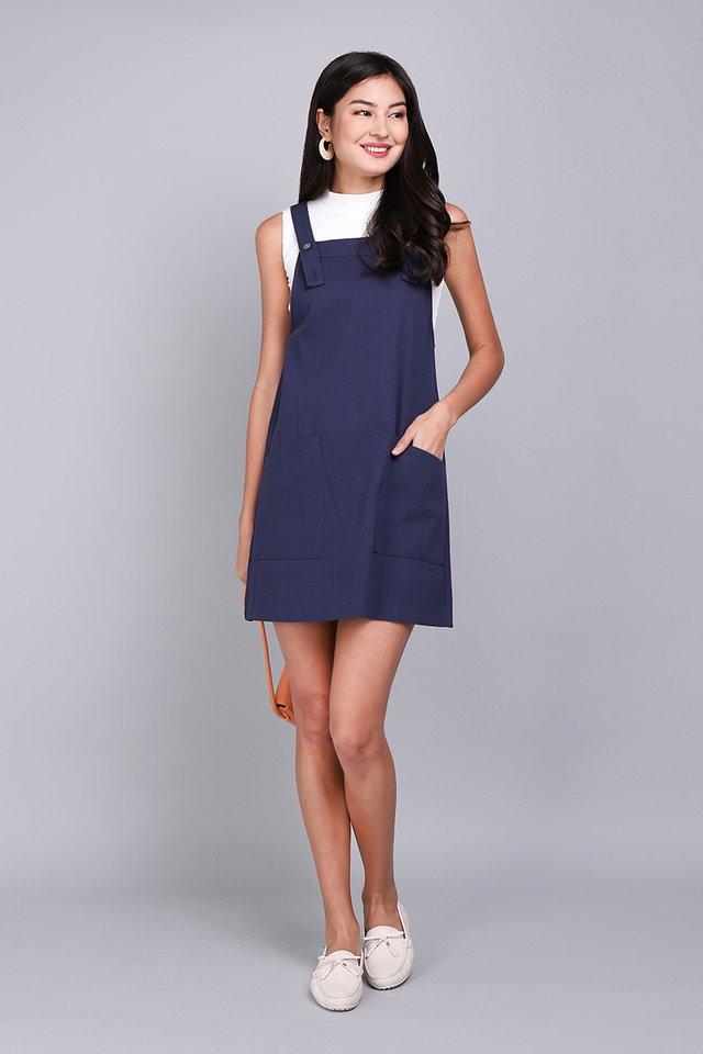 Huckleberry Stories Dress In Navy Blue