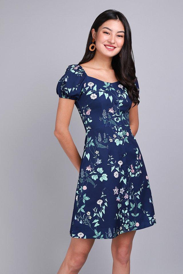 Dear Delilah Dress in Navy Florals