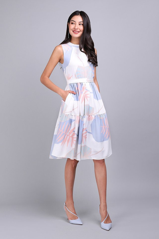 Autumn Swing Dress In Pastel Prints