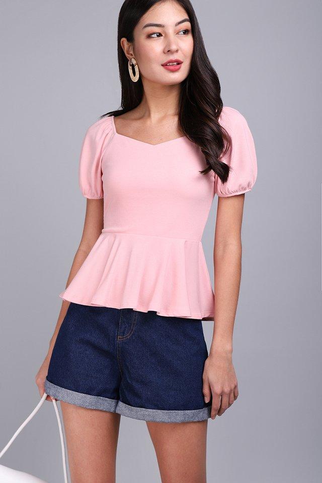 Rachel Top In Cotton Pink