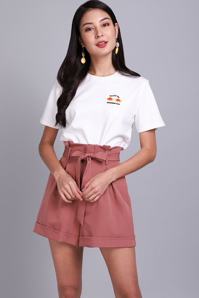 Here For The Pineapple Tarts Unisex Top In Classic White