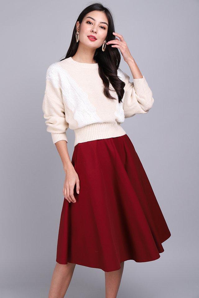 Sweater Season Pullover In Soft Cream