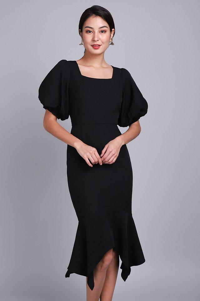 Spring Odyssey Dress In Classic Black