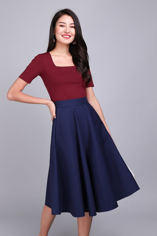 Carrie Top In Wine Red