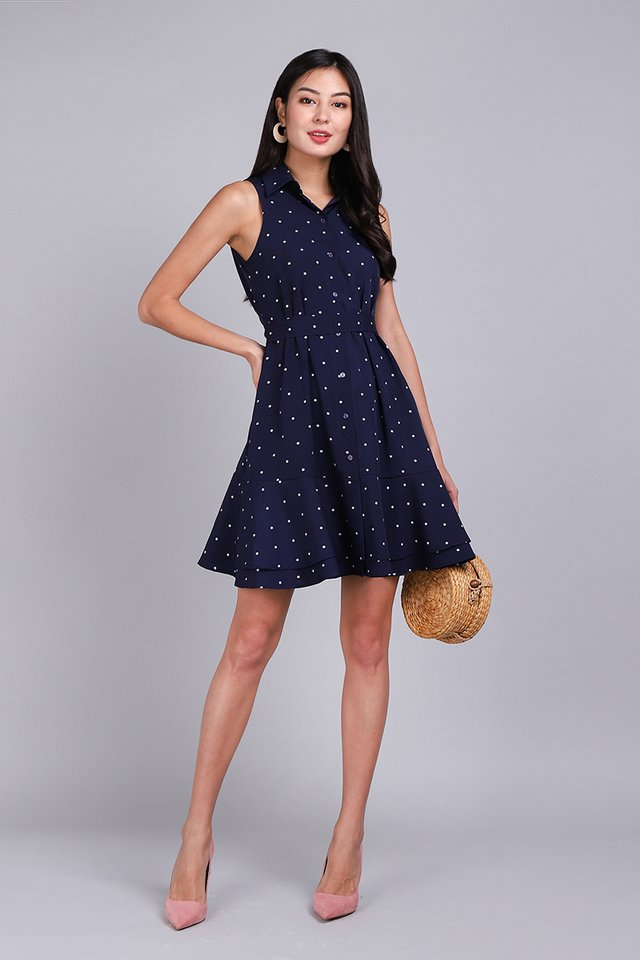 [BO] Floret Shenanigans Dress In Blue Dots