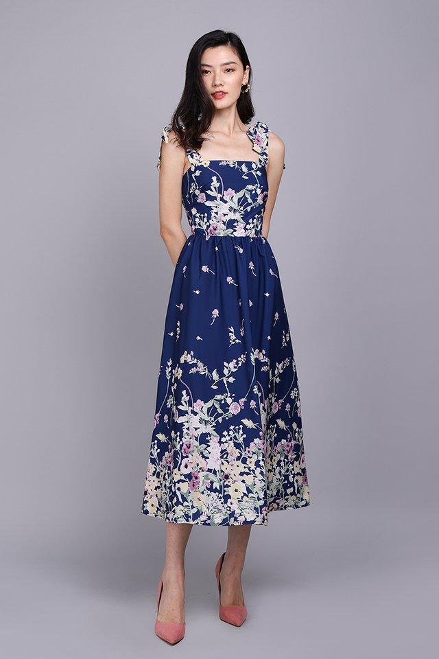 Garden Of Eden Dress In Blue Florals