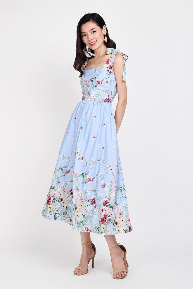 Garden Of Eden Dress In Sky Florals