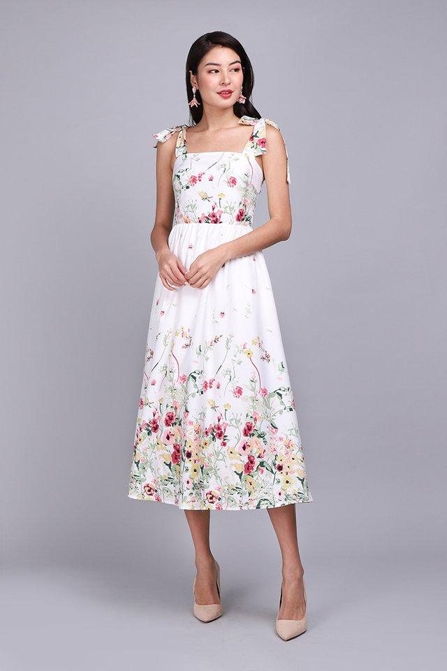 Garden Of Eden Dress In White Florals