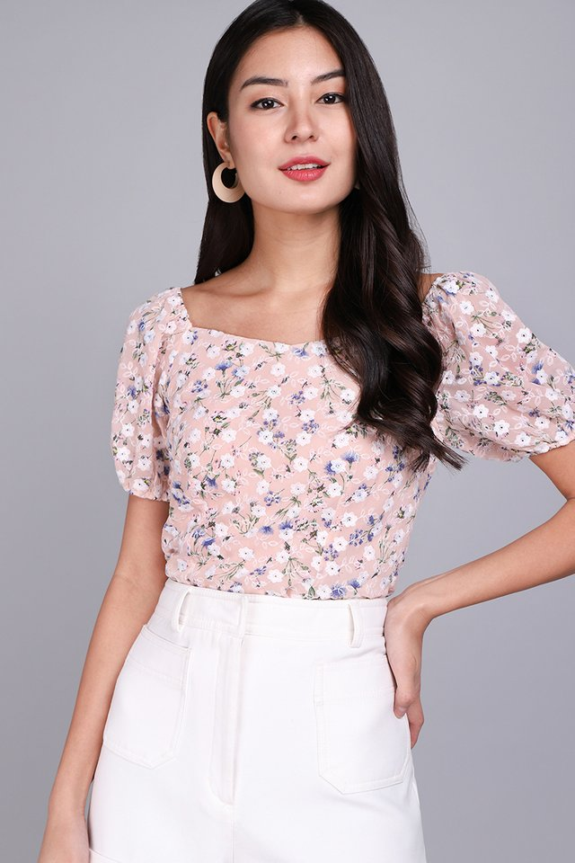 [BO] Most Hearted Top In Pink Florals