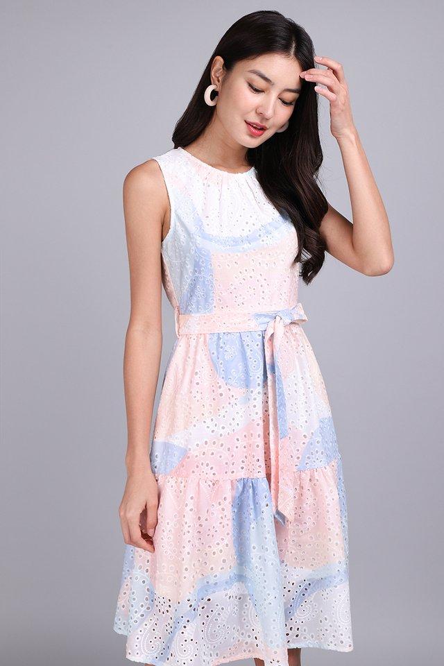 [BO] Flower Child Dress In Pastel Prints