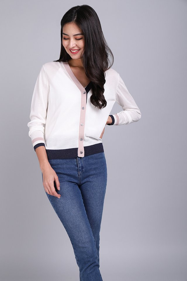 Chic For Days Cardigan In Classic White