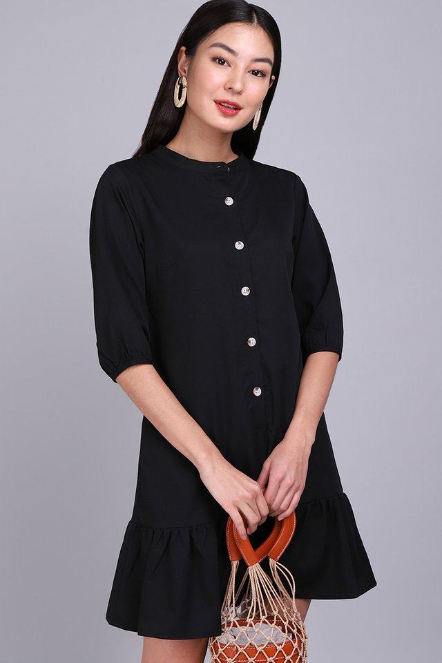 [BO] Morning Calls Dress In Classic Black
