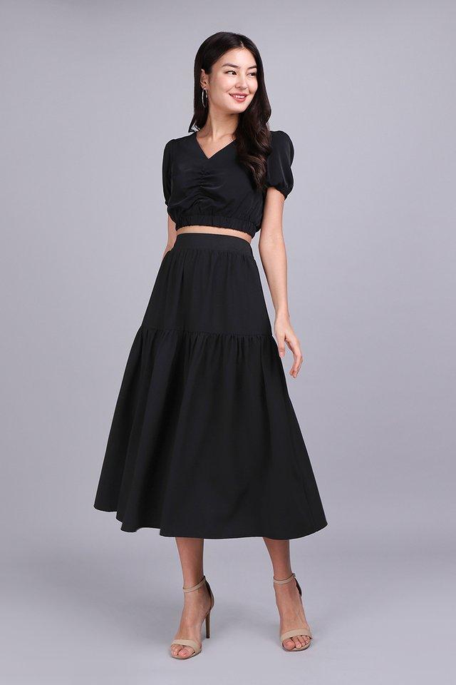 Poetic Walks Skirt In Classic Black
