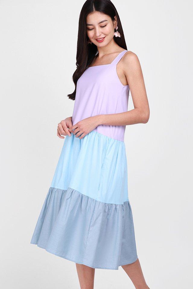 Maldives Getaway Dress In Pastel Lilac