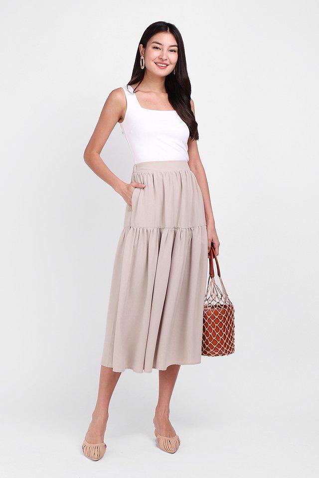 Poetic Walks Skirt In Taupe