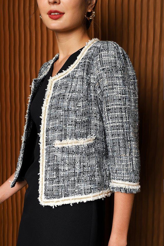 Sense Of Purpose Jacket In Blue Tweed