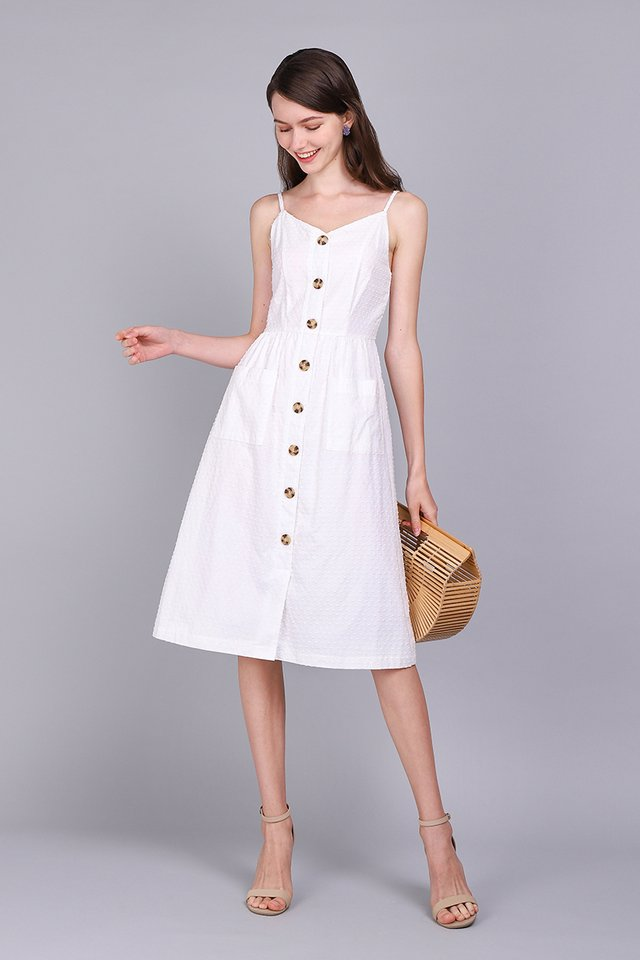 Dressing For Sunshine Dress In Classic White