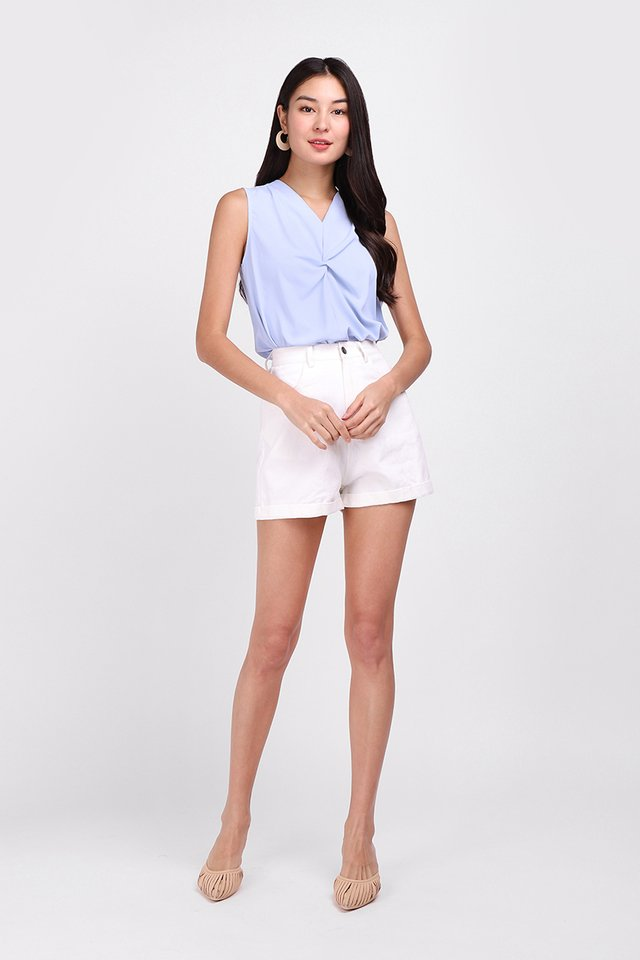 Breeze Into The Week Top In Sky Blue
