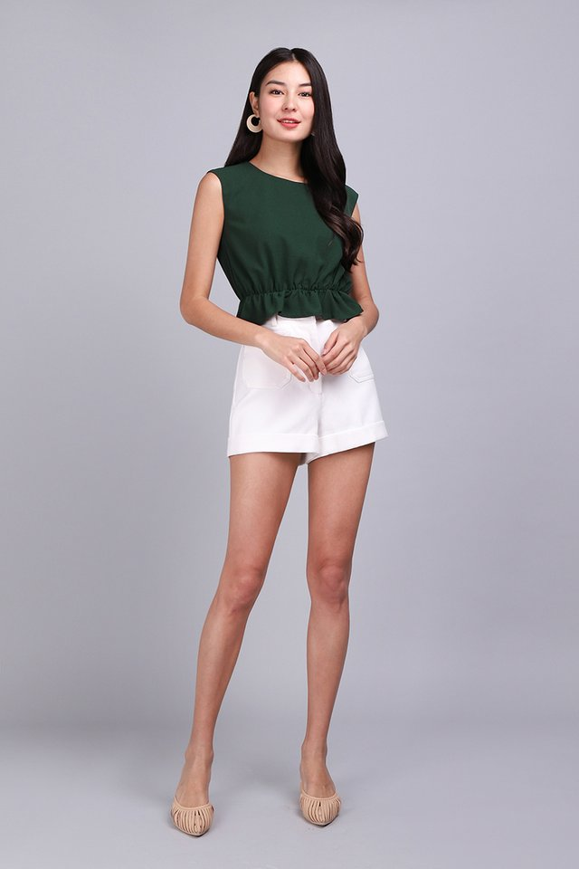 New Yorker Top In Forest Green