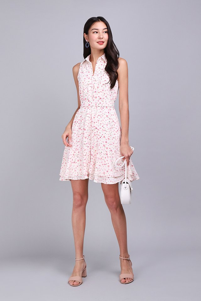 Floret Shenanigans Dress In Pink Blooms