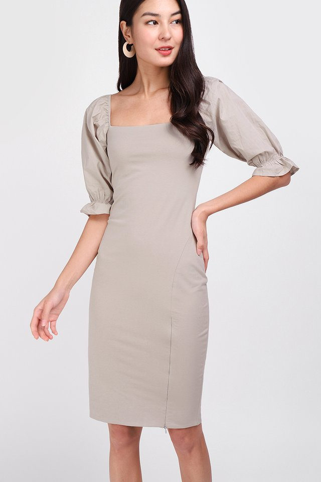 Sasha Dress In Taupe