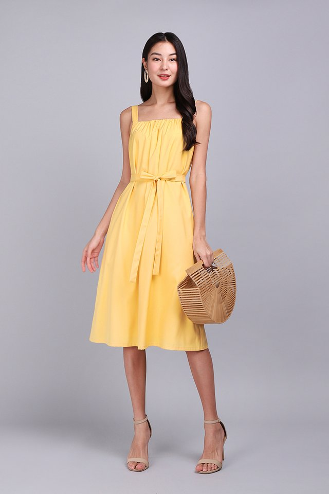 Happiness Regime Dress In Sunshine Yellow