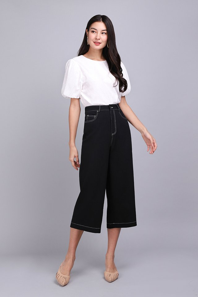 Charlie Culottes In Classic Black
