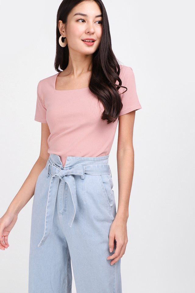 Casey Top In Dusty Pink