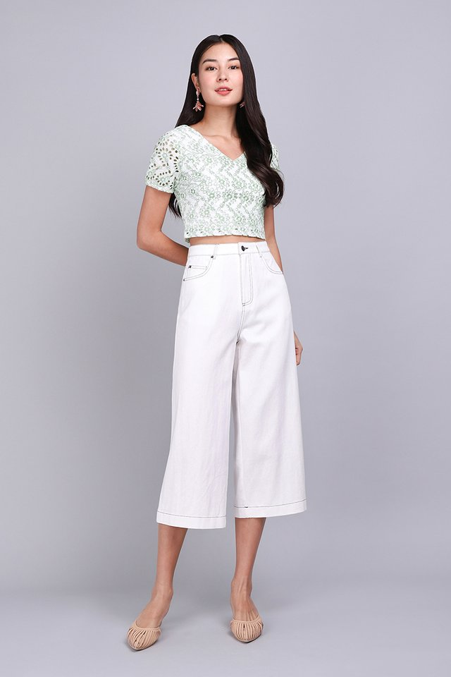 [BO] Charlie Culottes In Classic White