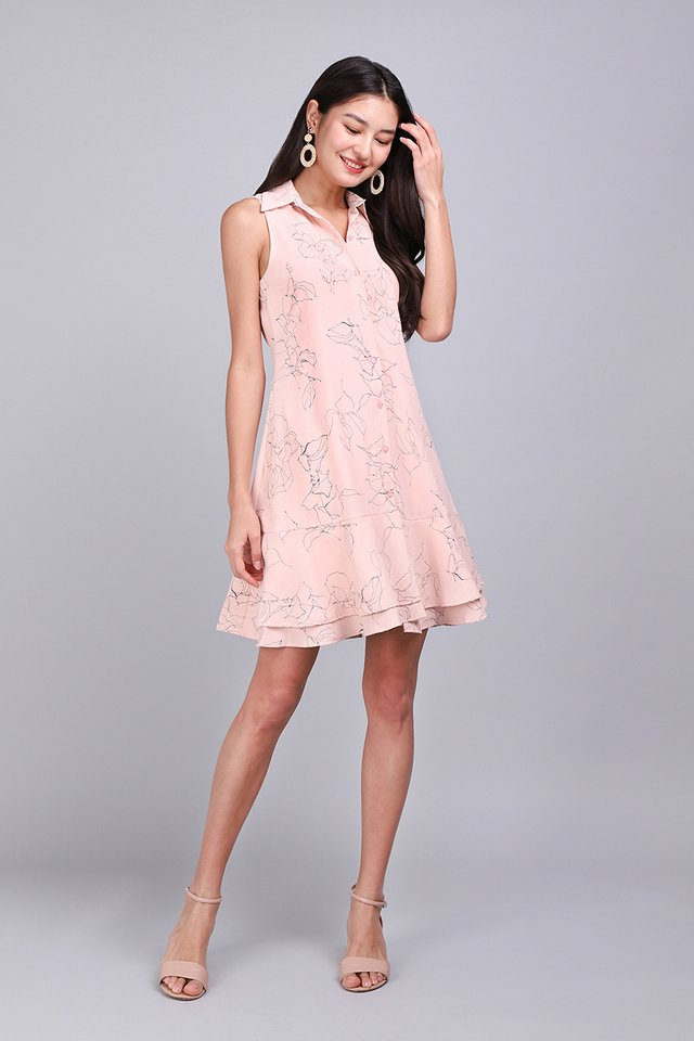Floret Shenanigans Dress In Pink Florals