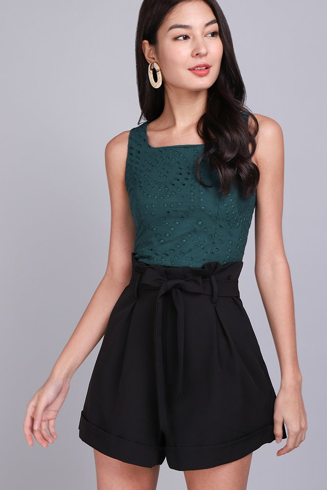 Instant Happiness Top In Forest Green