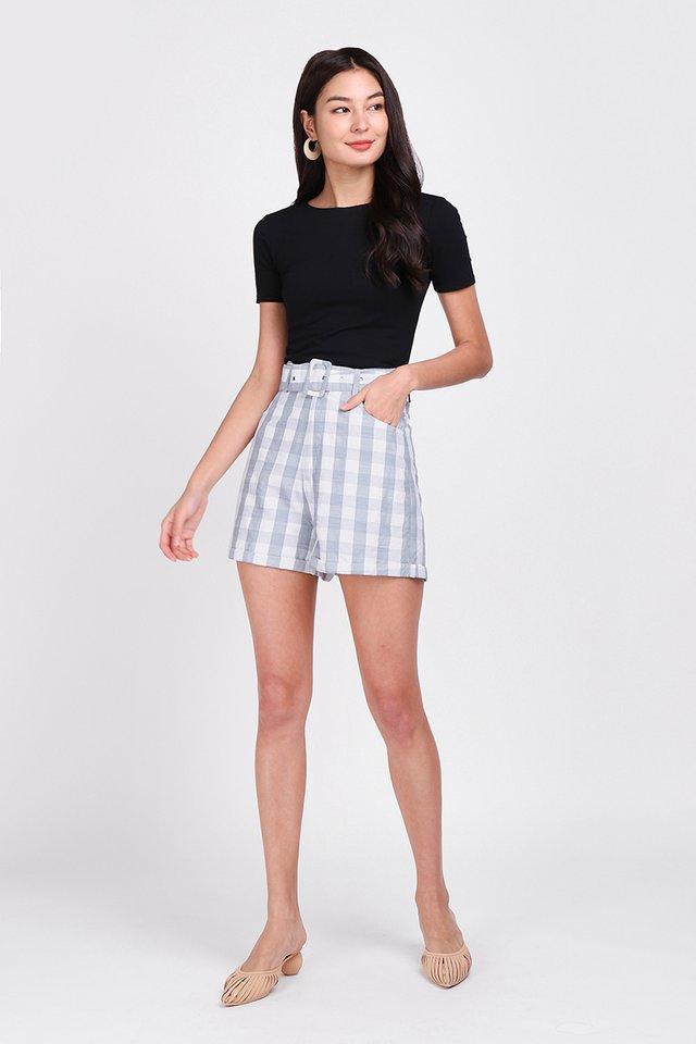 [BO] Picnic Plans Shorts In Grey Checks