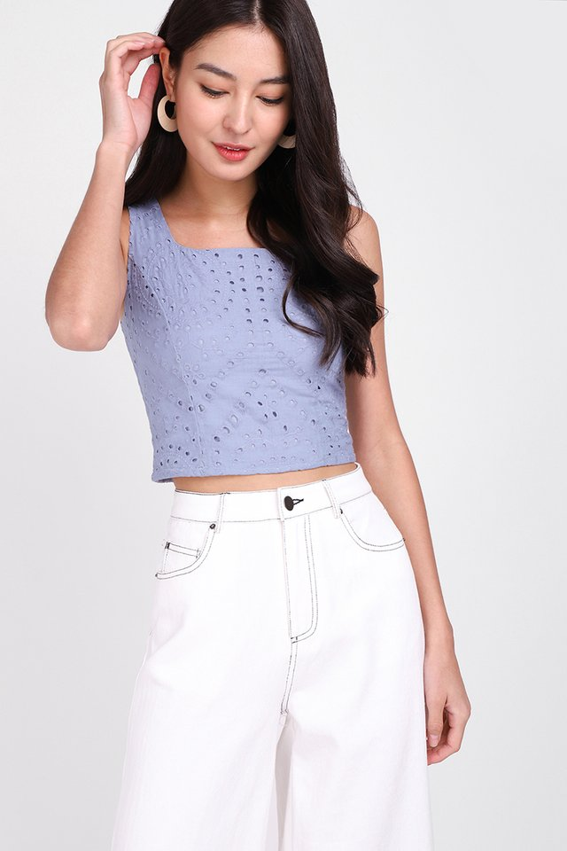Instant Happiness Top In Periwinkle