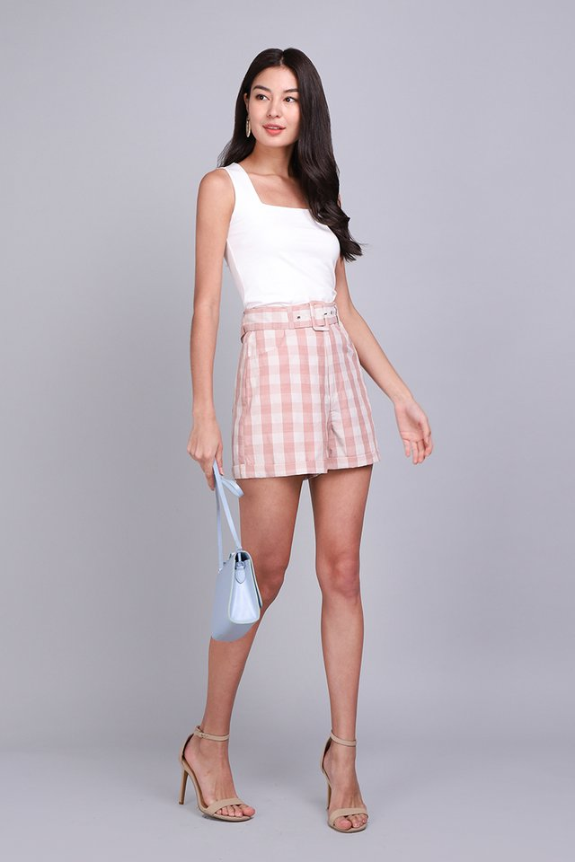 Picnic Plans Shorts In Pink Checks