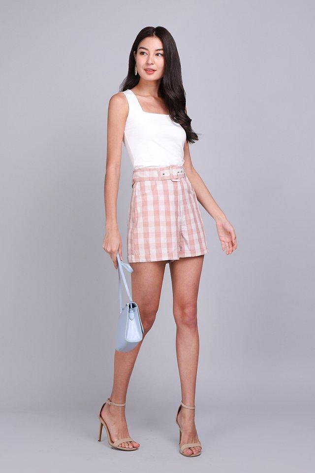 [BO] Picnic Plans Shorts In Pink Checks