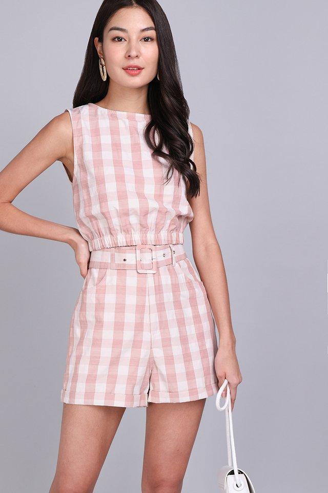 [BO] A Summer Affair Top In Pink Checks