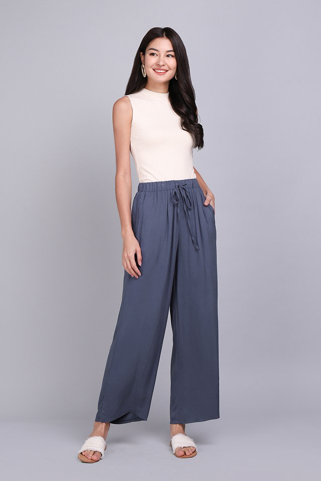 Life And Beyond Pants In Muted Blue
