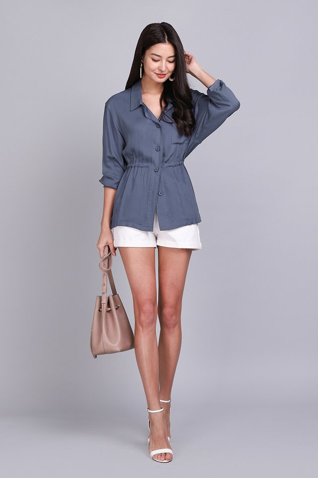 Easy Does It Top In Muted Blue