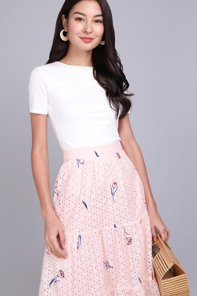 Gift Me A Garden Skirt In Pink Florals