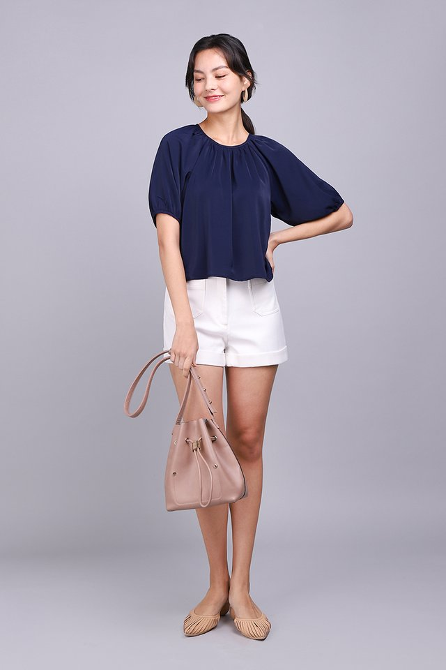 Tranquil Mood Top In Navy Blue