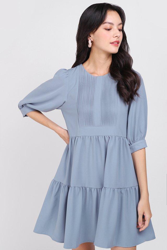 Spirited Away Dress In Muted Blue