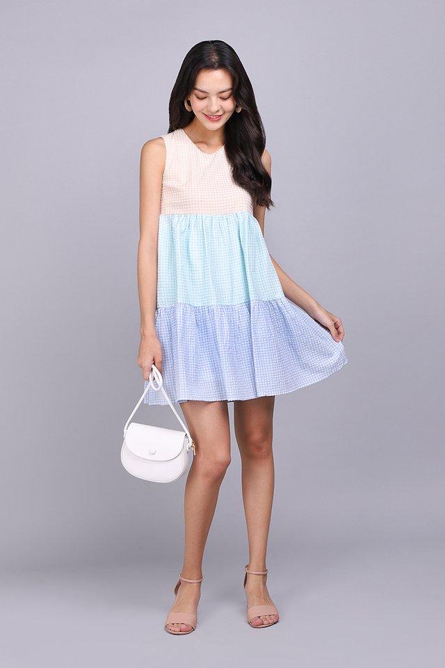 Colour Palette Dress In Cream Gingham